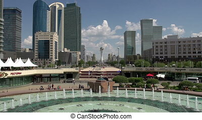 Central Avenue Astana - Central boulevard for pedestrians in...