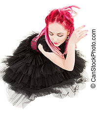 dancing pink hair girl - picture of dancing pink hair girl...