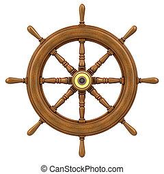 3d Ships wheel - 3d render of a ships wheel