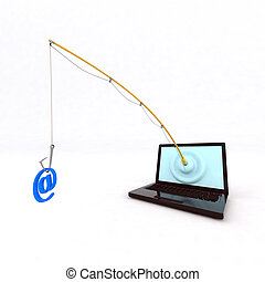 Phishing - concept phishing 3d illustration