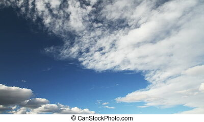 blue sky with clouds 4k