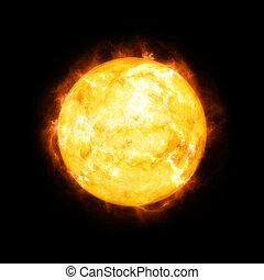 detailed sun in space - An image of a detailed sun in space