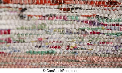 Texture of homespun fabrics - Luggage is transferred from...