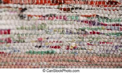 Texture of homespun fabrics
