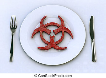 dangerous food into plate concepts - dangerous food into...
