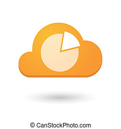 Cloud icon with a pie chart