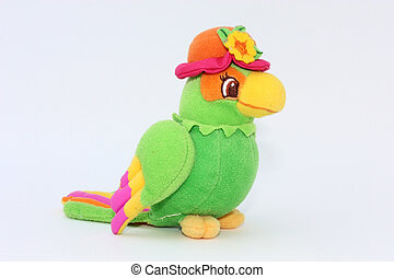 Colorful parrot, toy of plush - colorful parrot, child toy...