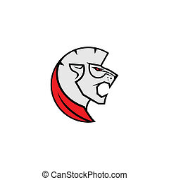 Fierce lion sport mascot sign - Lions Head, Fight emblem,...