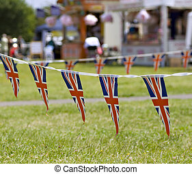 Union Jack Bunting - A string of Union Jack Bunting at a...