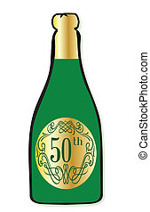 50th Celebration Wine Bottle - A congratulations bottle of...