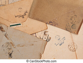 old paper - old letters on old paper