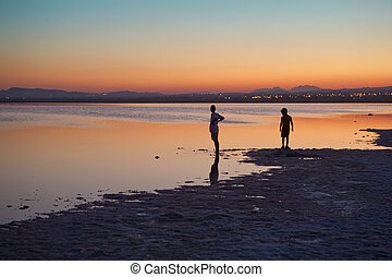 Torreviejas saltworks - Great sunset in the Torreviejas...