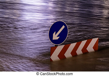 Danube in Budapest - Photo of flooding of the Danube in...
