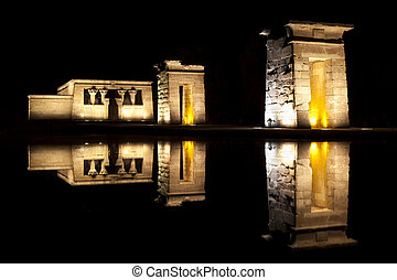 Temple of Debod, Madrid - Temple of Debod in Madrid, was...