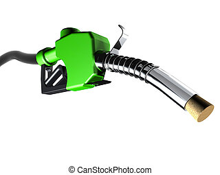 fuel pump with a cork 3d illustration