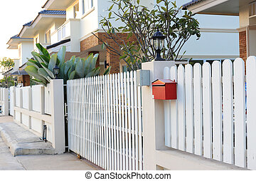 front gate a new house