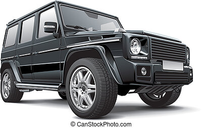 Germany full-size SUV - Detail vector image of black Germany...