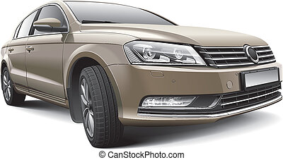 Germany large family car - Detail vector image of Germany...