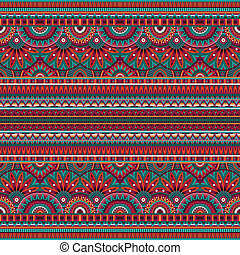 tribal ethnic background seamless pattern - Abstract vector...