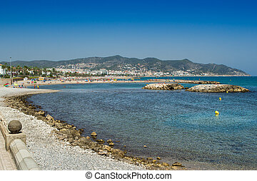Sitges beach - View of Sitges beach in a summertime