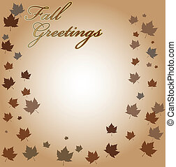 Fall Greetings Vector Background - (replace 21338906 with...