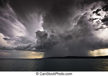 storm over the lake Balaton