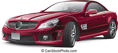 Germany luxury grand tourer - Detail vector image of...