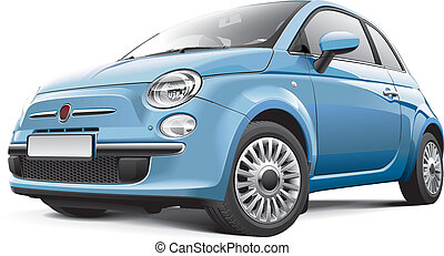 Italian city car - Detail vector image of Italian city car,...
