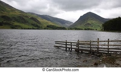Dull choppy day Buttermere Lake uk - A dull choppy day at...