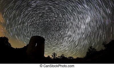 stars behind Syuyrenskaya fortress