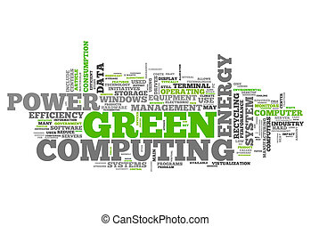 Word Cloud Green Computing related tags
