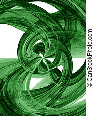 Flowing green burst - Flowing green liquid burst