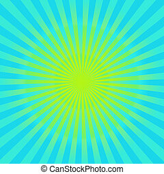 Cyan and yellow sunburst background