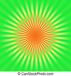 Green and yellow sunburst background