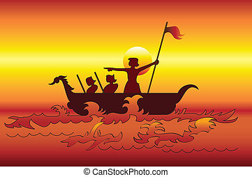 The Sea Explorers Vector Art