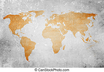 world map vintage artwork - perfect background with space...