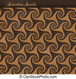 Seamless pattern with swirls, grunge background - Abstract...