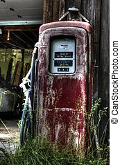 Vintage gas Pump In HDR