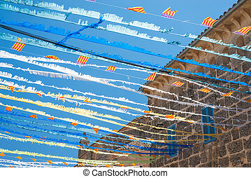 Spanish Street Bunting (5) - Colorful Festive Bunting across...