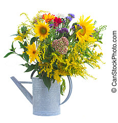 posy of fall autumn flowers - posy of mixed fall flowers in...