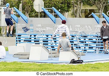 Marina Green Outdoor Gym, San Francisco - The Marina Green...