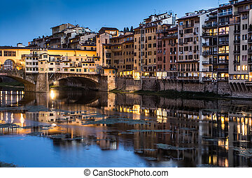 Ponte Vecchio - Great View of Ponte Vecchio at twilight....