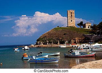 ea Fokea summer resort at Kassandra of Halkidiki peninsula...