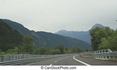 The highway in the Alps