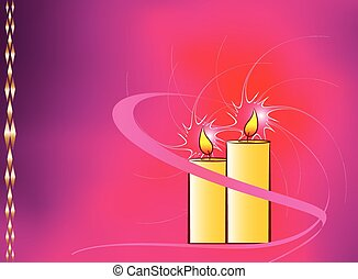 Festive Candle Background Vector Art