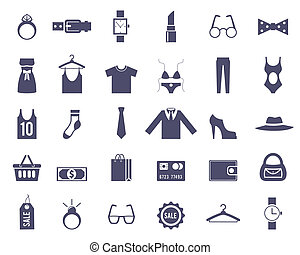 Clothing and Accessories Themed Graphics - Navy Blue...