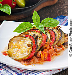 Vegetable Ratatouille - Famous French dish from Provence -...