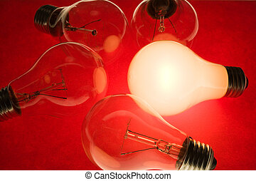 Bright Light Bulb close up shot