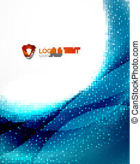 Blue futuristic wave unusual background Modern business...
