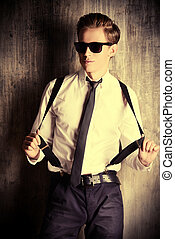 successful boy - Fashion shot of a handsome young man Studio...